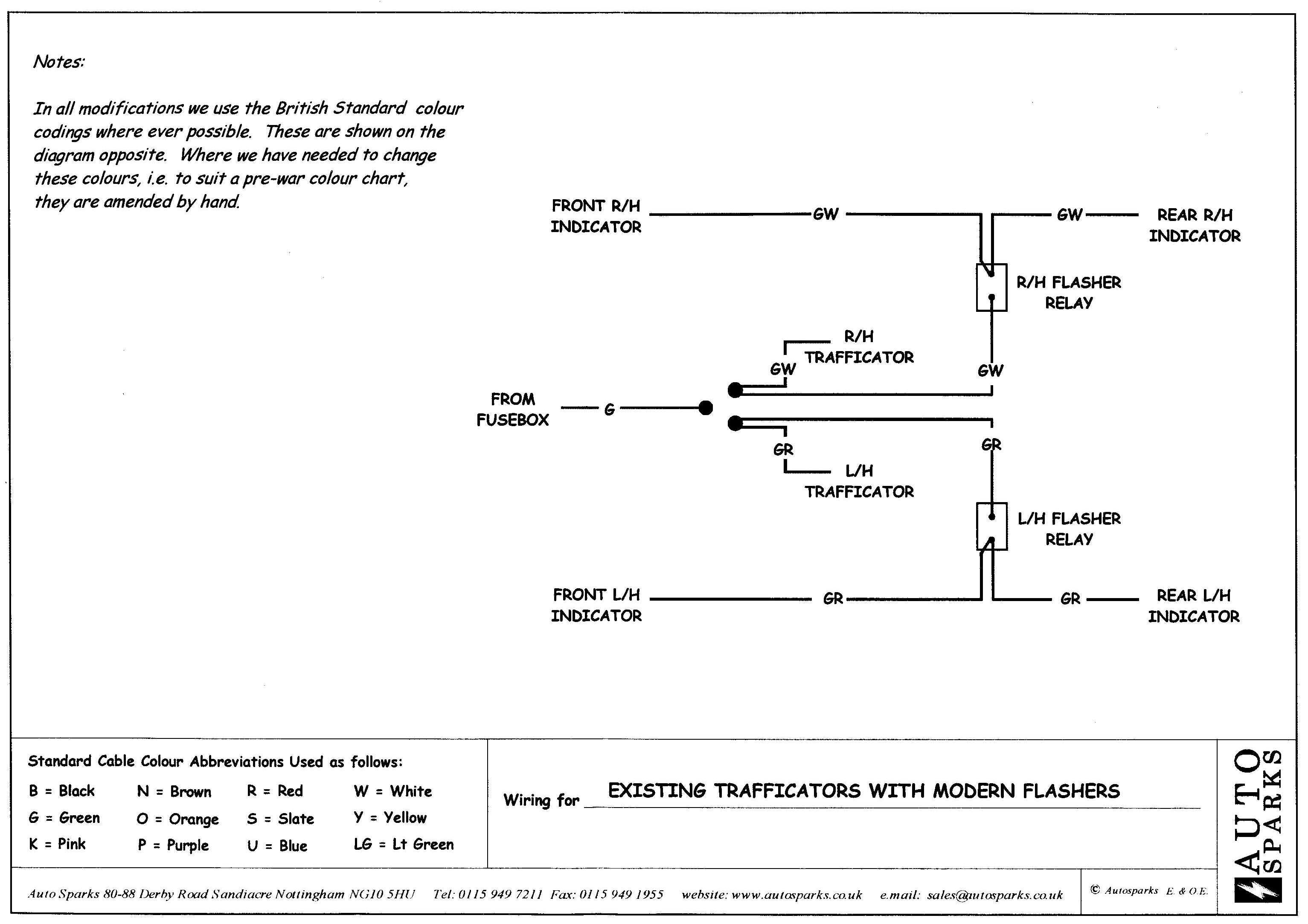 Wiring Diagram Indicator : Morris minor owners view topic trafficator wiring
